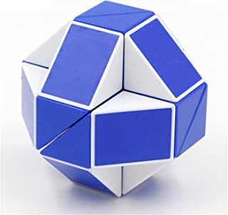 Snake Magic Speed Cube Speed Twist Brain Puzzle Cube Brain Teaser Toys for ADD ADHD Anxiety and Autism Adult Children by SHUYUE (Blue & White)