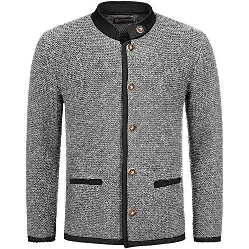GIESSWEIN Herren Strickjacke Maik - Jacke aus weicher Wolle, Trachten-Janker, Trachtenmode für Männer