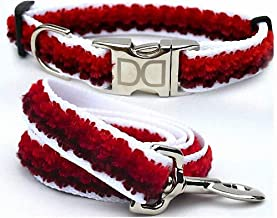 """product image for Diva-Dog 'Cabo Red Sunset' Custom Medium & Large Dog 1"""" Wide Dog Collar with Plain or Engraved Buckle, Matching Leash Available - M/L, XL (M/L: Plain Buckle + Leash 5' x 1"""")"""