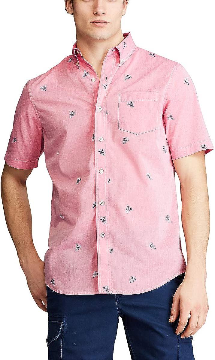 Chaps Men's Regular Fit Short Sleeve Wrinkle Resistant Performance Sportshirt