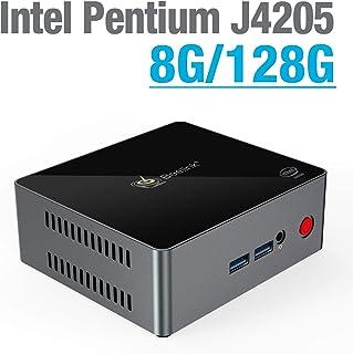 Beelink J45 Mini PC LPDDR4 8GB / 128GB SSD Intel J4205 Processor Quad-Core 64-bit Dual HDMI 4K HD Output Desktop Office PC(SATA 3.0/2.4+5.8GHz WiFi/1000mbps LAN)