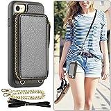 iPhone SEケース【第2世代】iphone7ケース ZVE® iphone 8 ケース カード入れ 財布型 お札入れ ……