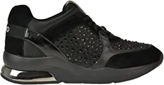 Luxury Fashion | Liu Jo Women MCGLCAK0000B8018I Black Suede Sneakers | Season Outlet