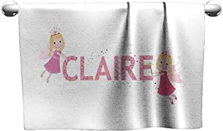 Flowered Claire,Pastel Toned Colorful Arrangement of Fairy Tale Elements with Magic Wands and Wings,Multicolor,freestanding Towel Racks for Bathroom