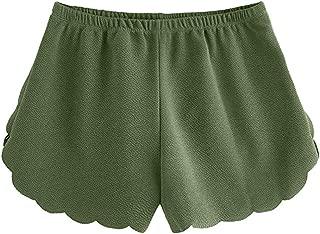 Short Pants for Women, Plus Size Yoga Shorts Trousers Chiffon Elastic Waist Solid Casual Fashion