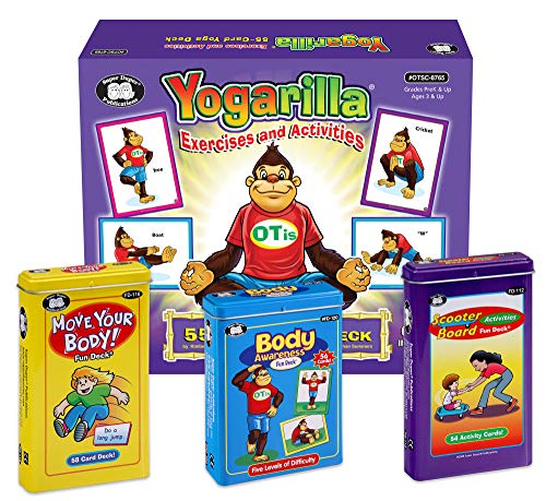 Super Duper Publications   Yoga Exercise, Activities & Body Awareness Fun Decks   Move Your Body & Scooter Board Flash Cards   Occupational Therapy and Motor Skills Bundle   Educational Materials