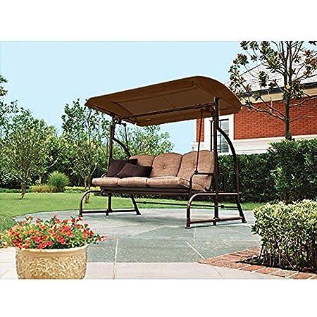 garden winds 3 person futon swing