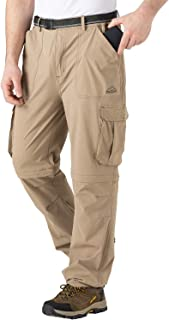 TBMPOY Men's Hiking Pants Convertible Pants Lightweight Quick Dry for Military Outdoors