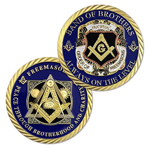 Masonic Coins Master Mason Freemasonry Brotherhood Challenge Coin