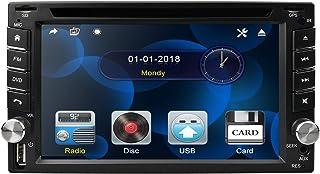 Doppel DIN Autoradios in Dash 6.2 Zoll Digital Bildschirm Auto Audio DVD Spieler Stereoanlage Fernbedienung Autoradio Bluetooth 8GB Auto GPS Karten Karte Head Unit USB / SD FM AM Radio Car Player