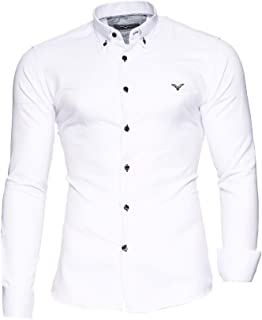 comprar comparacion Kayhan Hombre Camisa Manga Larga Slim Fit S - 6XL Modello - Oxford