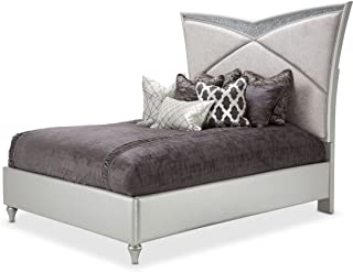 Aico Amini Melrose Plaza Cal King Upholstered Bed in Dove Grey