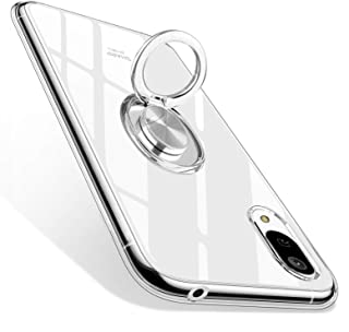 AQUOS sense3 ケース/AQUOS sense3 lite ケース/Android One S7 ケース [ SH-02M / SHV45 / SH-RM12 ] 対応 TPU リング クリア 透明 耐衝撃 シリコン 薄型 軽量 傷防止 カバー