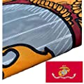 Joven Marine Corps Embroidered Military Flags 3x5 Outdoor- Double Sided American USMC Flag Banner 2ply Embroidered United States Marine Corps Flag with 2 Brass Grommets Vivid Colors Waterproof