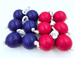 TBWHL Ladder Toss Ball Replacement Ladder Balls Bolos Bolas Ladder Golf with Real Golf Balls,Blue and Red