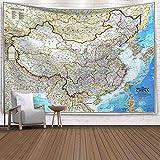 Tela para colgar en la pared del mapa del mundo, tapiz de mapa de...