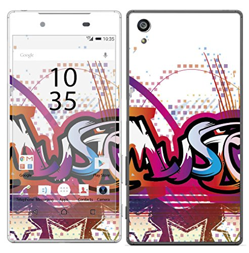 Royal Sticker RS.125639 Sticker voor Sony Xperia Z5, Music Text