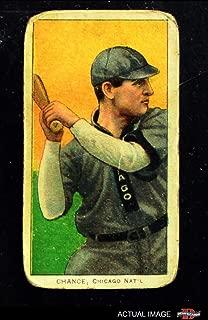 1909 T206 BAT Frank Chance Chicago Cubs (Baseball Card) (Batting) Dean's Cards 1 - POOR Cubs