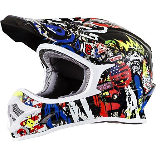 O'NEAL 3 Series Rancid Motocross Enduro MTB Helm schwarz/Multi 2018 Oneal: Größe: XL (61-62cm)