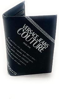Versace Jeans Couture - Tarjetero para hombre, color negro