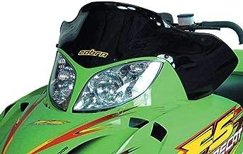 PowerMadd 12421 Cobra Windshield for Arctic Cat Firecat - Black - Low height