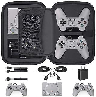 Funda rígida de transporte para Playstation Classic – 5 en 1 bolsa de almacenamiento protectora para consola/controladores/tarjetas de memoria/cables HDMI y más accesorios