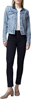 Citizens of Humanity Harlow Ankle High Rise Slim Straight Leg Jeans - Women's Designer Denim - Inkwell wash - Made in The USA