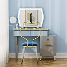 Dressing Table Set, with LED dimmable Makeup Mirror, with 4 Large-Capacity Drawers, Bedroom Furniture, Simple and Generous