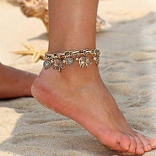 3 Teile satz Böhmen Multilayer Elefanten Quaste Perlen Charme Armband Schm  Tb