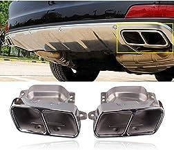 LUVCARPB 1 par de silenciador de Tubo de Escape de Coche de Acero Inoxidable, Apto para Mercedes Benz W164 W221 S300 S350 S500 A45 W166 W251 W216 S CLA ML Clase AMG