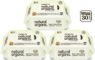 Natural Organic Original Plain Wet Wipes Travel Pack - Bundle, 30 count (Pack of 3)