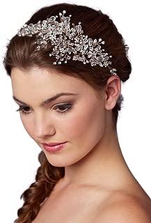 Mariell Rose Gold Crystal Bridal Headpiece Hair Vine - Wedding Hair Accessories