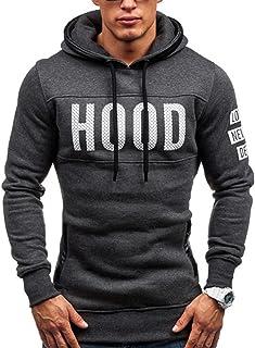 2d070aa3ac788 Ineternet Hommes Hiver Slim Hoodie Chaud Pullover Sweatshirt Capuche  Manteau vêtements Hauts