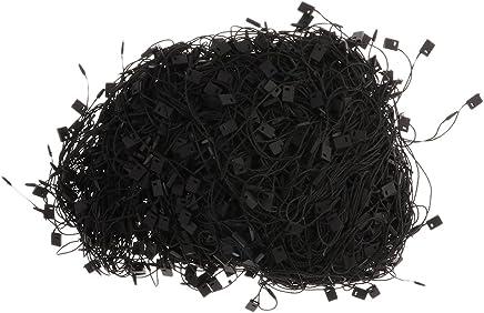 Sharplace 1000pcs Cordino Stringa Corda per Tag Targhette Cartellini da Abbigliamento Vestiti Bagagli - Nero