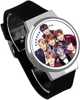 LLflow BTS Watch, Kpop Bangtan Boys Jungkook, Jimin, V, Suga, Jin, J-Hope, Rap Monster Touch Screen LED Luminous Watch for The Army