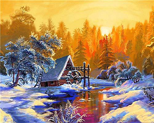 xvhsx Puzzle Holz Kinder Spielzeug Hut on the snowy mountain DIY Benutzerdefiniert Collectibles logisches Denken Weihnachts geschenk-50 * 75cm-1000 Teile