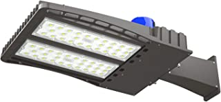 AntLux 150W LED Parking Lot Lights Shoebox Pole Light, 18600lm 5000K, 450W HID/HPS Replacement, Outdoor Commercial Area Street Security Lighting Fixture, IP66 Waterproof, Arm Mount, Photocell Included