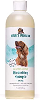 Nature's Specialties Deodorizing Dog Shampoo for Pets, Ready to Use, Made in USA, Cucumber and Melon, 16oz