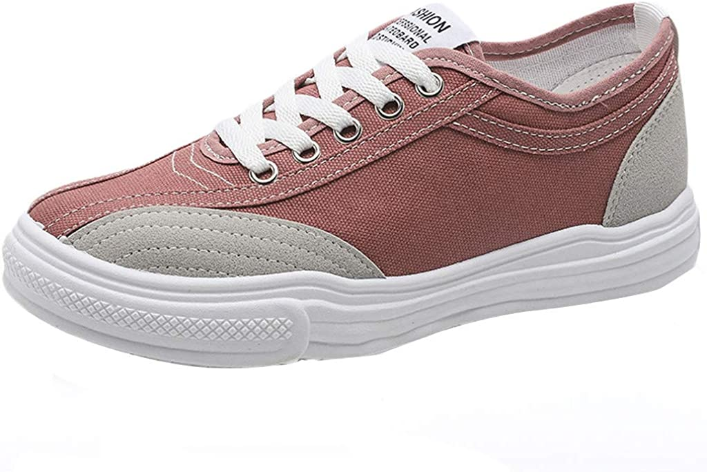 Easy-to-use Womens Canvas Shoes Lace up Sneakers Walking S Running Athletic Selling rankings