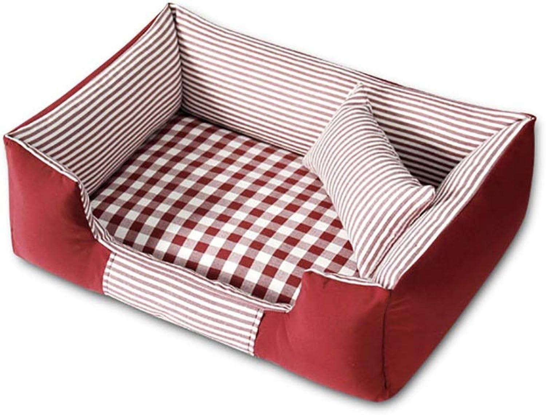 OrderSoil Pet House Cat Litter Kennel Washable Pet Nest Pet Bed Plaid Soft Comfortable Warm Deep Sleep Four Seasons Available