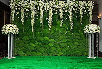 Yeele 10x8ft Wedding Flowers Backdrop Rose Wall Interior Decoration Photography Background Wedding Ceremony Bridal Shower Anniversary Floral Marriage Bride Portrait Photoshoot Props Vinyl Wallpaper