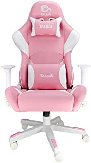 Talius Silla Dragonfly Gaming White/Pink, 2D, Butterfly, Base Nylon, Ruedas 60mm Nylon, Gas Clase 4,