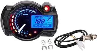 走行距離計 オートバイデジタルライトLCDスピードメーター走行距離計タコメーター/スピードセンサー7カラーディスプレイオイルレベルメーターモダンなユニバーサル (Color : 7inch bracket 2)