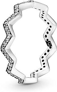 خاتم فضة للنساء بحجر زركونيا مكعب من باندورا 197751CZ-54 - 54 EU