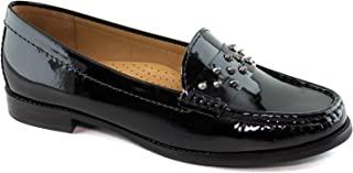 Driver Club USA Women's Genuine Leather Made in Brazil Louisville Fashion Studded Loafer