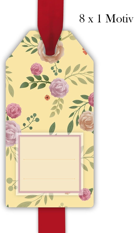32 elegante Rosan Geschenkanhänger Geschenkkarten Papieranhänger Hängeetiketten Tags in zarten zarten zarten Farben Format 5,5 x 11cm, zum Beschriften  passt zu Geschenkpapier  00000_1_G8517 B075BHY2CY | Qualität Produkte  1c9620