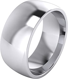 court shaped wedding rings