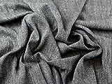Italienische Wolle Blend Tweed passend Kleid Stoff schwarz