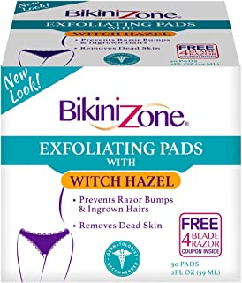 Bikini Zone After Shave Pads, 50 Count