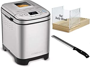 Cuisinart CBK-110 Bread Maker with Bread Slicer and 8-Inch Stainless Steel Bread Knife Bundle (3 Items)